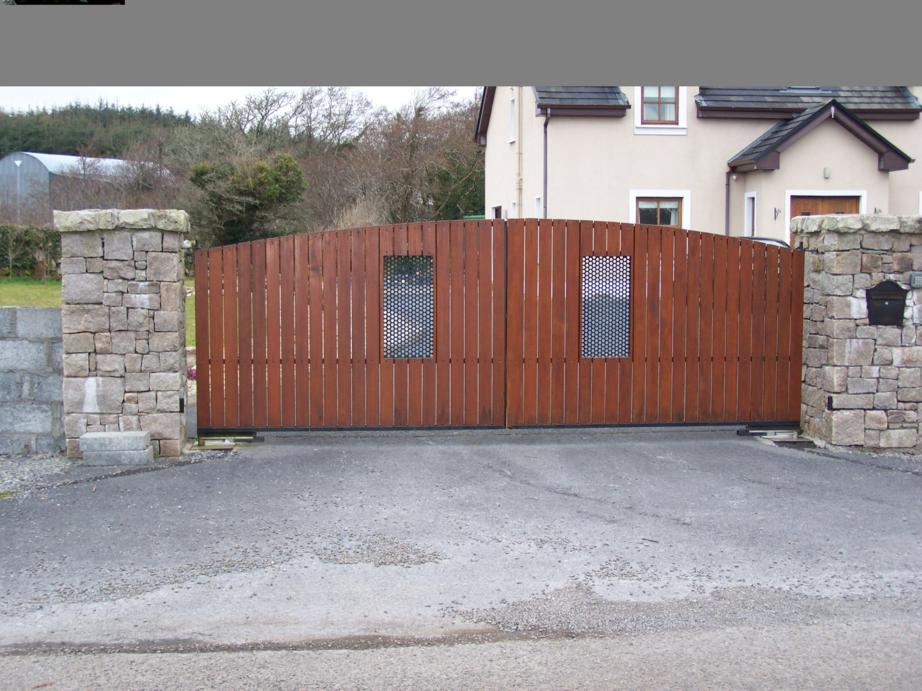 Timber Gates Automated Electric Gates In Galwayautomated