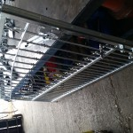 an iron gate which has just been fabricated
