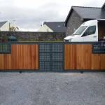 cedar sliding gate fitted in roscahill galway